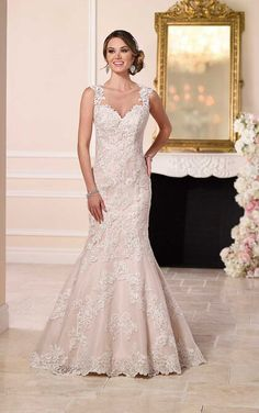 Mermaid Cut Wedding Gowns by Stella York. Mermaid Cut Wedding dresses available at Bridal Collections by Stella.