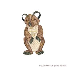 Louis Vuitton in collaboration with Billie Achilleo and.....the Zoo?! Check out these LV Sculptures