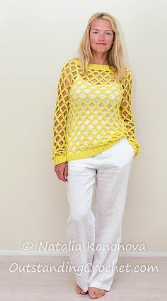 Sunny Seine Pullover (crochet pattern in Ravelry)