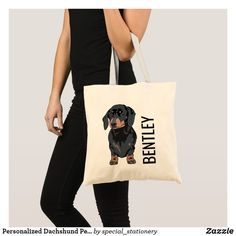 Personalised Dachshund Pet Name | Cute Doggy Goody Tote Bag Dachshund Sweater, Dachshund Gifts, Dog Gifts, English Cream Dachshund, Cute Pet Names, Cute Clipart, Pet Tags, Pet Collars, Pet Accessories