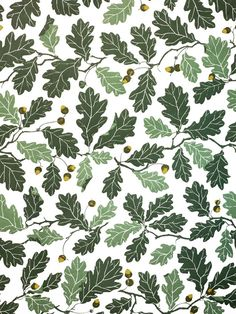 Surface Pattern III Botanical Leaf Oak Motif with thanks to Textile Designer Maria Astrom #pattern #textiles #surfacepattern #motif #scandinavian #design #botanical