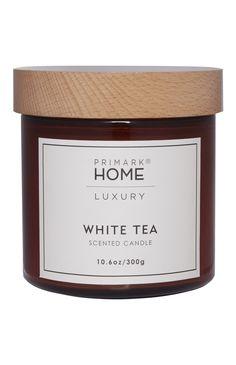 6E Primark - Vela en tarro de cristal olor té blanco