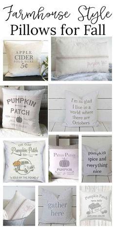 Farmhouse style pillows for fall.