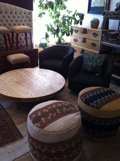 Like this wood coffee table...from Nicky Kehoe