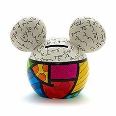 Disney Tirelire Mickey par Britto | Disney StoreTirelire Mickey par Britto - Con�ue par l'artiste de pop art, Romero Britto, cette %u0153uvre d'art fonctionnelle sert �galement de tirelire, vous permettant d'ajouter une touche de magie Disney tout en comptant vos pi�ces!