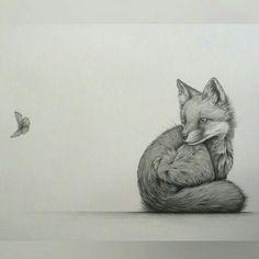 """""""Intrigue"""" by Kerry Jane. Fox cub, pencil drawing """"Intrigue"""" by Kerry Jane. Animal Sketches, Animal Drawings, Art Drawings, Fox Drawing, Drawing Sketches, Drawing Ideas, Art Fox, Fox Sketch, Fuchs Illustration"""