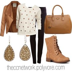 """""""Cold Day Autumn Outfit"""" by theccnetwork on Polyvore"""
