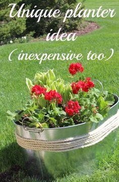 Unique planter idea (inexpensive too!). - Momcrieff