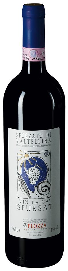 Plozza_Valtellina_vin_di_ca_sfursat Varietal: 100% #Nebbiolo  Color:  Grainy red color with a delicate brownish reflection  Bouquet:  Taste seducing scents of raisin compote and #panpepato (Italian pepper bread)  Taste:  Mellow toasted notes recall #creme #brulee, #cloves, white pepper and ripe plums to the palate. Robust tannins with a beautiful flavorsome structure   #Food #Pairing:  Ideal accompaniment for #game, mature #cheeses, red meat, #minestrone soup and roast meat