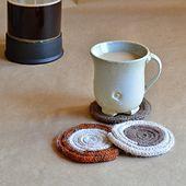 A Coffee Addict Knits: Icord-Wrapped Roving Mug Rugs - Make Ready All Free Knitting, Spool Knitting, Knitting Patterns Free, Crochet Patterns, Free Pattern, Crochet Ideas, Knit Or Crochet, Crochet Crafts, Yarn Crafts