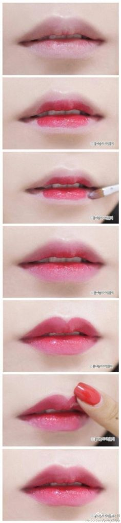 Well,I really love this tutorial for gradient lips