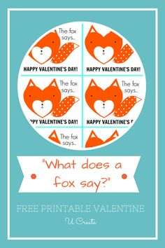 "One of my favorite things ever is to hear my kids sing ""What does the fox say?"". So, I designed this fox version a couple of weeks ago and I'm so excited to share it with you today in case you have fox-lovin' kids like I do! Here's what I did… Attach it as …"