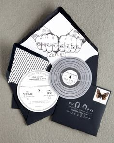 Oh So Beautiful Paper: Courtney + Paul's Brooklyn Wedding Invitations