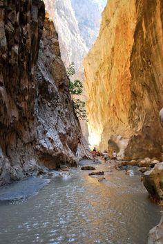 The awe-inspiring Saklikent Gorge just 25 mins drive from Kalkan, Antalya.  TURKEY