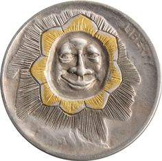 Robert Shamey - Face in Flower Hobo Nickel, Coin Collecting, Jewel, Cactus, Coins, Auction, Carving, Money, The Originals