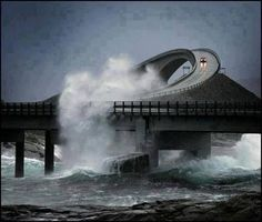 The Atlantic Ocean Road in Norway. I MUST go to Norway (eventually) and experience this amazing road … but not during a storm. Norway is a totally fascinating place. (there are several more photos of the Atlantic Ocean Road on this board) Lofoten, Atlantic Road Norway, Atlantic Ocean, Places To Travel, Places To See, Places Around The World, Around The Worlds, Beautiful World, Beautiful Places