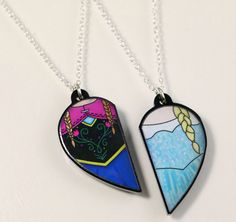 Anna and Elsa Necklaces | 38 Perfect Pieces Of Jewelry To Share With Your Best Friend