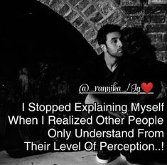 I stopped explaining myself when i realised other people only understand from their level of perception..! 😐😐 Follow @_rannika_ #ranbir…