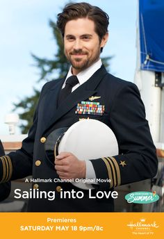 """He is GORGEOUS! It's full steam ahead toward adventure and love when When Calls the Heart's Chris McNally stars in """"Sailing in Love."""" Plot a course for the newest Countdown to Summer original movie on May only on Hallmark Channel. Romantic Comedy Movies, Sad Movies, Romance Movies, Movie Tv, Hallmark Christmas Movies, Holiday Movie, Hallmark Movies, Lifetime Movies, Drama"""