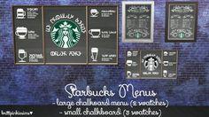 Simlish Starbucks Set Part 2 at Brittpinkiesims