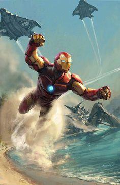 Heros Comics, Marvel Comics Art, Iron Man Avengers, The Avengers, Hero Marvel, Marvel Marvel, Les Innocents, Iron Man Art, Tony Stark