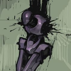 tortured robot by spx.deviantart.com on @DeviantArt