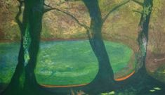 """Limited edition etching """"Resting Pond"""" by contemporary British printmaker Monica Macdonald Ralph. Paper Size, Printmaking, Pond, Rest, Colour, Artwork, Painting, Size Of Paper, Art Work"""