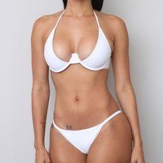 Bikini-top & bottom extra small Brazilian cut, minimum butt coverage....Brand new! Tags still attached! Hygienic sticker still attached! Only tried on for photo! American Apparel Swim Bikinis