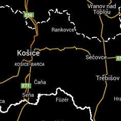 Presov satellite map - online map of Presov, Slovakia - Googlemap