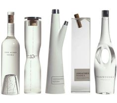 1000 Acres Vodka  A design the demonstrates that there are no limits to custom glass manufacturing.
