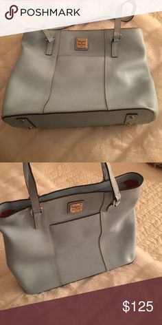 Dooney and Bourke Bag Like new beautiful powder blue!! Dooney & Bourke Bags Satchels