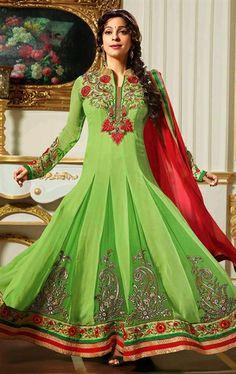Picture of Plushy Deep Honeydew Color Designer Salwar Kameez