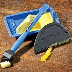 Rockler 3-Piece Silicone Glue Application Kit Includes Silicone Brush, Silicone Tray, and Silicone Spreader