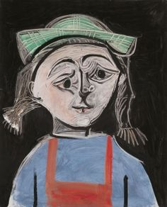 Little girl with pigtails and green hat - Pablo Picasso - The Athenaeum