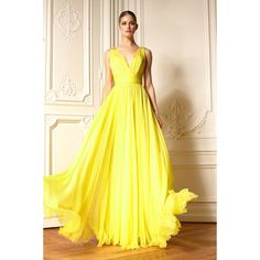 Aliexpress.com : Buy 2015 Summer Chiffon Long Yellow Evening Dresses V Neck Sleeveless Pleats Chiffon Long Prom Gowns Summer Style Cheap from Reliable gown and robe sets suppliers on Life&Peace Dress Store  | Alibaba Group