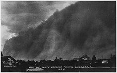 """THE DEPRESSION - Dust Storms - """"One of South Dakota's Black Blizzards, 1934"""""""