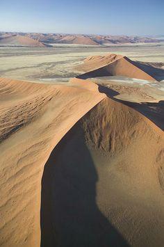 aerial view Namib desert near Sossusvlei, Namibia, Africa