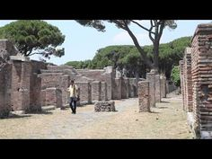 Ostia explored 1. Fascinating explanation for stone set in Ostia's prevailing brickwork.