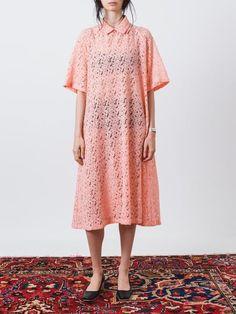 Papaya Lace Collar Dress