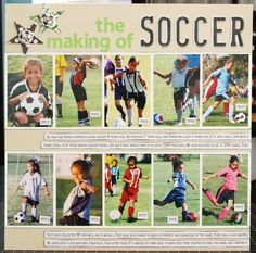 Love showing multiple years of the sport!  Great scrapbook layout idea!
