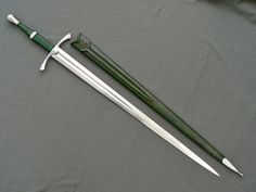 Borderwatch by Christian Fletcher and Albion Swords  Very much inspired by the ranger swords of Lord of the Rings, this highly functional sword is a textbook hand-and-a-half, and fits the ranger fighting style perfectly. The slightly curved crossguard gives it that fantasy touch, but otherwise this could be a historical weapon.