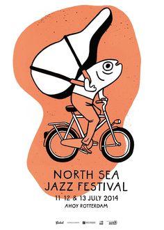 North Sea Jazz Art Poster - Port of Rotterdam North Sea Jazz Festival Graphic Design Posters, Graphic Design Illustration, Graphic Design Inspiration, Illustration Styles, Jazz Festival, Jazz Poster, Jazz Art, Design Graphique, Grafik Design