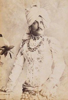 Maharaja Sir Pratap Singh of Idar State, Regent of Jodhpur. ca- before 1897.