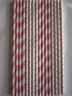 24 Light Pink Striped / Light Pink Small Polka by DKDeleKtables