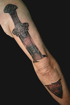 Sword tattoo on pinterest tattoos and body art tattoo for Minimalist tattoo artist austin