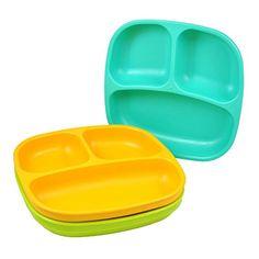 Re-Play Divided Plates, Aqua, Green, Orange, 3-Count Re-Play http://www.amazon.com/dp/B007HZBOFG/ref=cm_sw_r_pi_dp_HkVLub1VYKE32