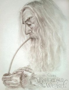 Gandalf the Grey smoking his pipe (via Gandalf)