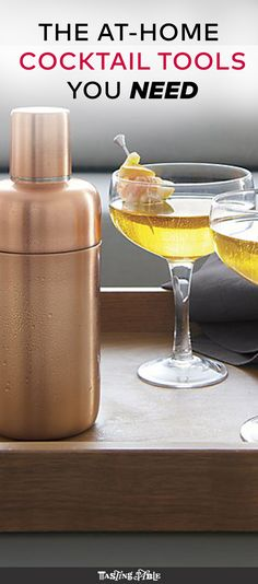 Whether you're shaking up a serious martini or just want to kick back with your preferred alcohol and a mixer, here's everything you need to equip your home bar.