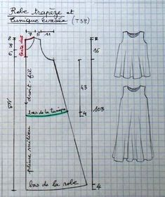 trapese dress pattern - lots of patterns on this ...   Patterns sewing