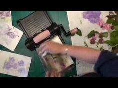 Crushed flower technique  Card making magic-Christina